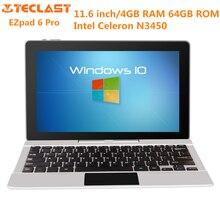 Jumper EZpad 6 Pro 11.6 inch Tablet PC Windows 10 Home Intel Celeron N3450 Quad Core 1.1GHz 4GB RAM 64GB ROM Bluetooth 4.0