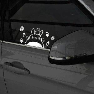 Новейший автомобильный Стайлинг Забавный мультяшный милый кот Тоторо автомобильный светильник брови окна царапины на теле покрытие накле...