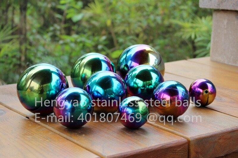Vícebarevná kulička Dia 150mm 15cm nerezová dutá kulička bezešvá jemná koule Sphere Home Yard Bazén Dekorace Ozdoby