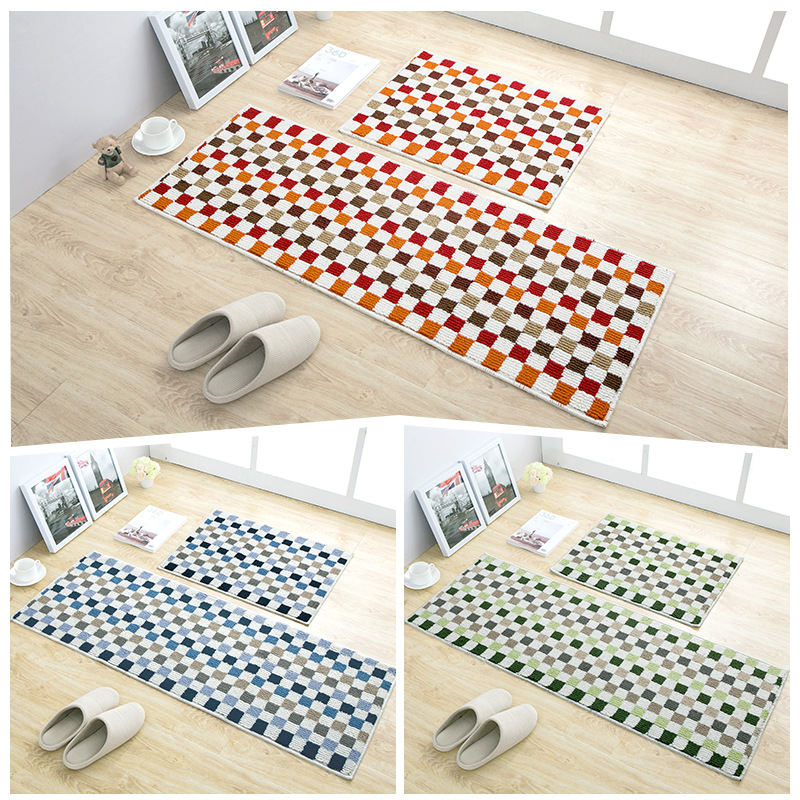 Non Skid Hallway Carpet Entry Rugs Water Absorbent Door Floor Mat for Shower Bathroom Soft Kitchen Runner Mats