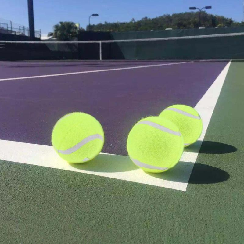 67mm Diameter High Elasticity Self-Study Woolen Training Tennis Ball W/3.7 Meters Detachable RopeString For Training Competitio