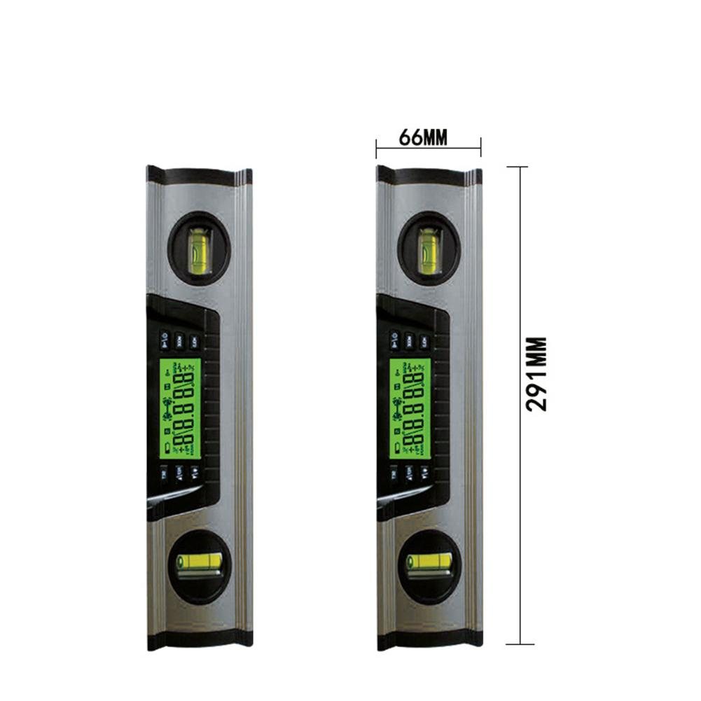 DL122 12 Inch Electronic Inclinometer Digital Display Angle Magnetic Leveller Measuring Accessories Horizontal angle Supplies