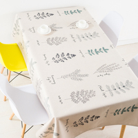 Thicken nordic linen tablecloth table cloth garden fresh green forest leaf simple modern coffee home decoration table cover gift