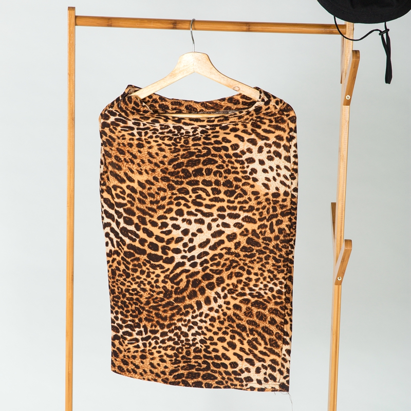 5a30f59a166eb Leopard Print Skirt Women High Waist Printing Faux Suede Pencil Skirt  Ladies Sexy Club Skirts Knee-length Printing Skirt
