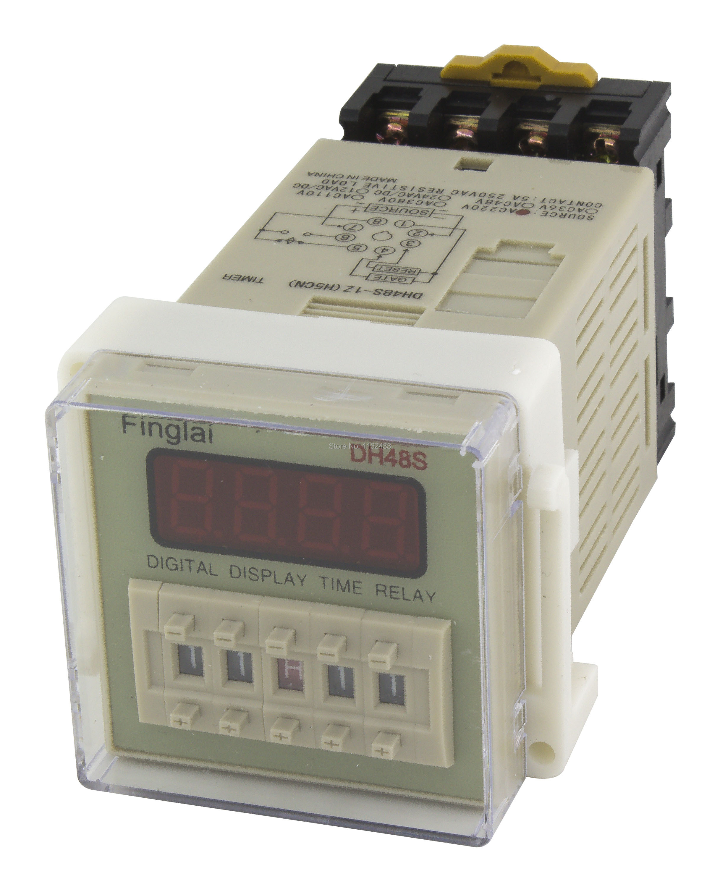 DH48S-1Z on delay SPDT time relay AC 220V 110V AC/DC 24V 12V with socket DH48S series delay timer with baseDH48S-1Z on delay SPDT time relay AC 220V 110V AC/DC 24V 12V with socket DH48S series delay timer with base