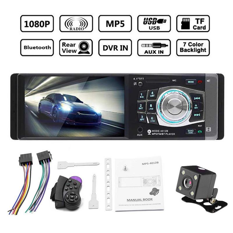12V 4 1Inch 1 DIN Car MP5 Player Bluetooth FM Transmitter Radio Stereo Head Unit with