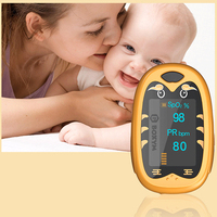 Pediatric Oximeter Babies Children Child Pulse Heart Rate Monitor Middle Finger Portable sphygmomanometer USB Charging