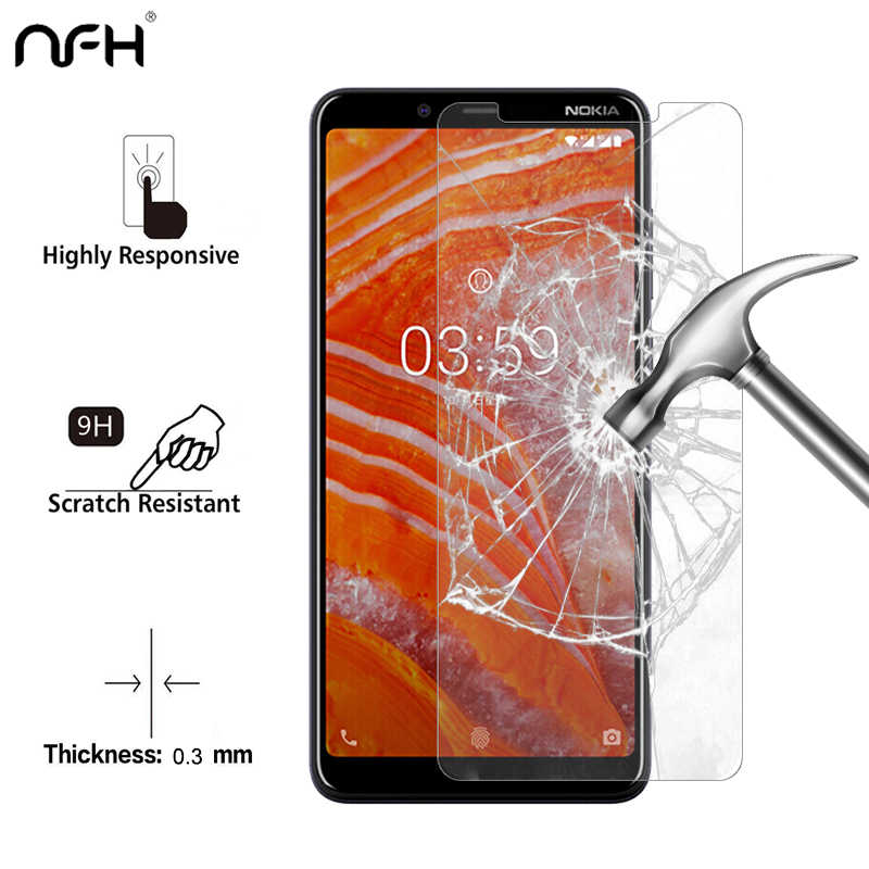 2PCS Screen Protector For Nokia 3.1 Plus Tempered Glass 2.5D 9H Phone Protective Film Screen Protector For Nokia 3.1 Plus Glass