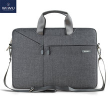 WiWU Laptop Bag Case 15.6 15.4 14.1 13.3 12 11 Messenger Bags for MacBook Air 13 Case Waterproof Notebook Bag for MacBook Pro 15(China)