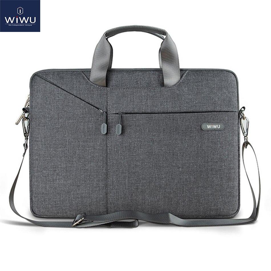 Wiwu bolsa para portátil caso 17.3 15.6 15.4 14.1 13.3 sacos do mensageiro para macbook ar 13 caso à prova dwaterproof água saco portátil para macbook pro 13
