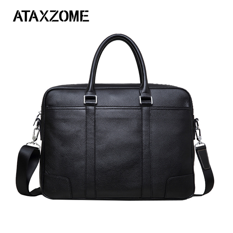 ATAXZOME New Men's Briefcase High Quality PU Leather Bag Fashion Brand Business Briefcase For Men Laptop Bag Man Shoulder Bags