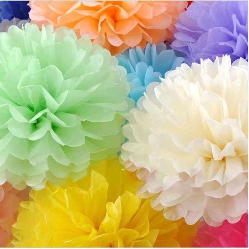 1pc 15cm Pompon Tissue Papier Pom Poms Bloem Ballen voor Bruiloft Home Decoratie Verjaardag Party Decor DIY Craft papieren Bloem 62472