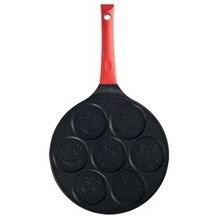 Блинная кастрюля Fun Enjoy Mini 7 отверстий блинная сковородка для омлета Двухслойное антипригарное покрытие вафли блинчики сковорода специальная безопасность