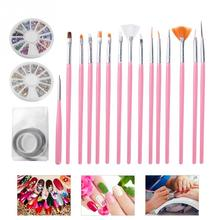 Professional Nail Art Pen Brush Set Line Drawing Painting Pen Striping Tape Line Manicure Tool