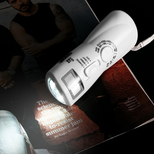 Portable AM FM Radio Emergency Radio Hand Crank Generator Radio Dynamo Power Supply emergency Radio with Flashlight Compass(China)
