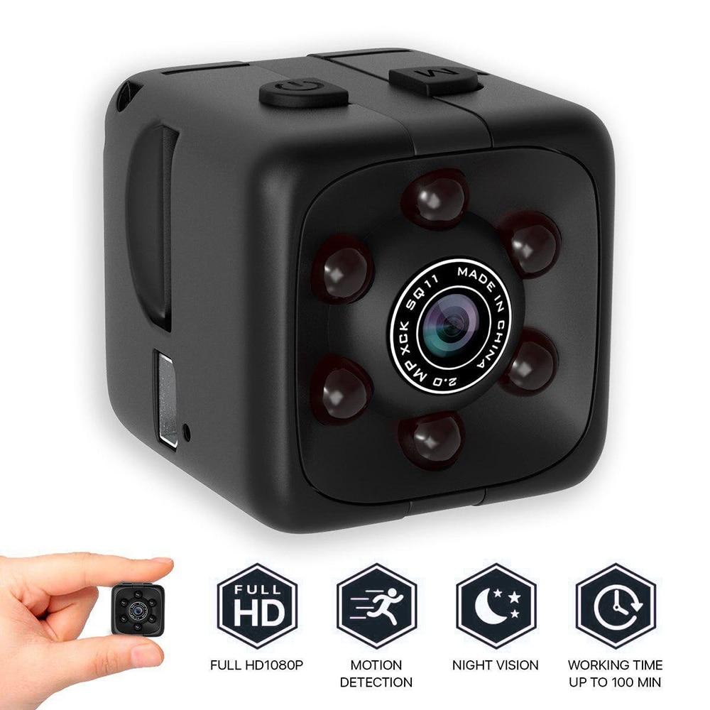 Уличная микро-камера 1080P, портативная кубическая камера, мини-камера безопасности, камера ночного видения с датчиком движения, уличные инст...
