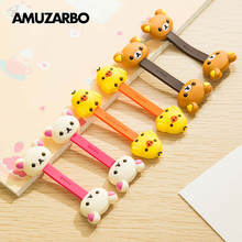 Cartoon Double-Headed Animal Cable Winder Easily Bear Chick Headphone Office Desk Cable Manager(China)