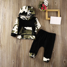 Baby Kids Boy Hooded Set Clothes 0-3Y