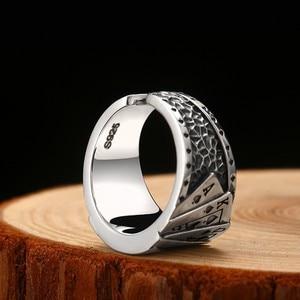 Image 5 - Zabra poker anel sólido 925 prata rock punk anéis para homens feminino preto signet jóias tamanho ajustável 7 a 10 pode cutomize tamanho