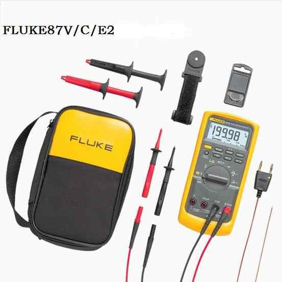 Original Fluke 87V Industrial Multimeter F87V/C Intrinsically Safe True RMS  Multimeter Temperature Conductance Tester F87V/C/E2