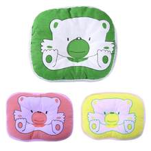 born Baby kids Head Shaping Pillow Support Bear Pattern Baby Pillow Cushion Pad Prevent Flat Infant Newborn Pillow Bedding New(China)