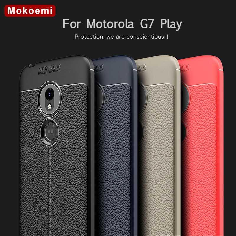 Angepasste Hüllen Kreativ Mokoemi Mode Lichee Muster Shock Proof 5,7 für Motorola Moto G7 Spielen Fall Für Motorola Moto G7 Spielen Telefon Fall Abdeckung GüNstige VerkäUfe Handytaschen & -hüllen