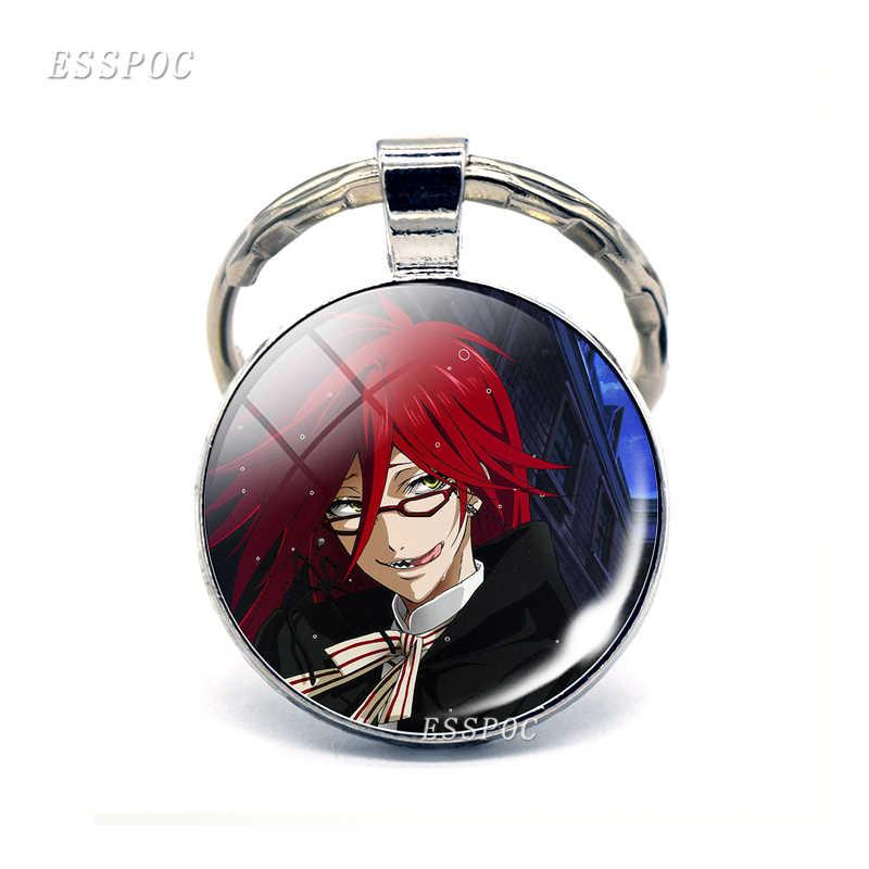 Черный Батлер металлический брелок Kuroshitsuji Ciel Phantomhive Sebastian Grell Madame Red Emblem Аниме Манга брелок для ключей