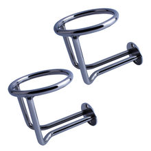 High Quality 361 Stainless Steel 2X Boat Ring Cup Holder Ringlike Drink For Marine Yacht