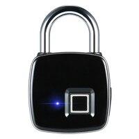 IP65 Waterproof Dustproof Design Fingerprint Padlock Smart Fingerprint Lock Keyless Anti theft Padlock Suitcase Door Lock