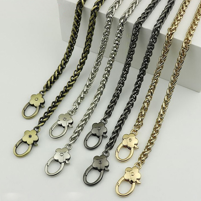 Diy 40cm-140cm Replacement Metal Purse Chain Handles 6mm Gold, Silver, Gun Black, Bronze Shoulder Bag Straps For Small Handbags