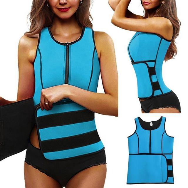 NEW Neoprene Sauna Vest Hot Body Shaper Slimming Waist Trainer Shaper Fashion Workout Shapewear Adjustable Sweat Belt Corset 2