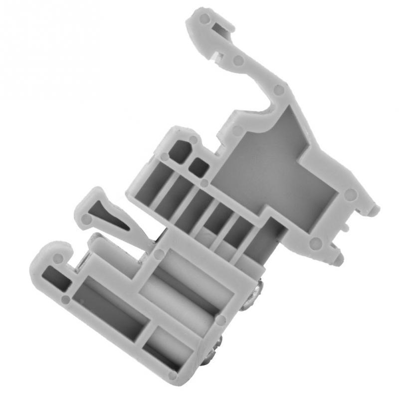 para su uso con bloques de Terminal Abrazadera de tornillo de Carril DIN Soporte de extremo