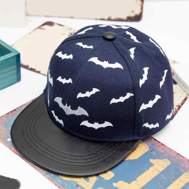 c9a32d45693 ... Kids Beautiful Hiphop Hats Black Red White Navy Blue Bat Kids Hat  Summer Baseball Cap Children
