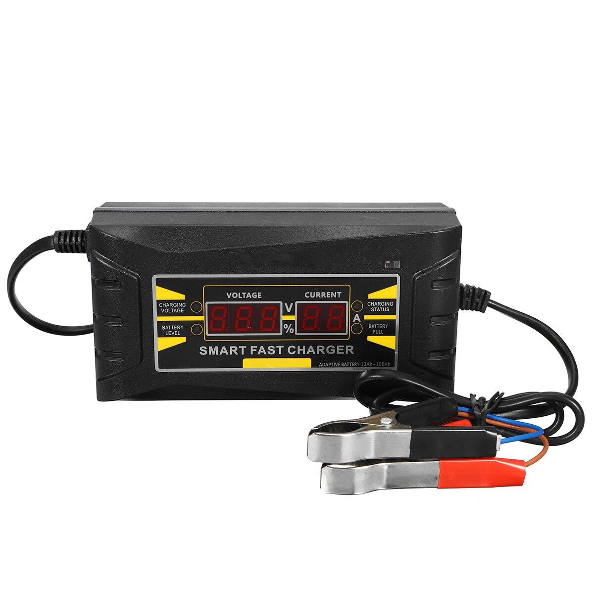 Full Automatic Car font b Battery b font Charger Smart Fast 110V 220V To 12V 6A