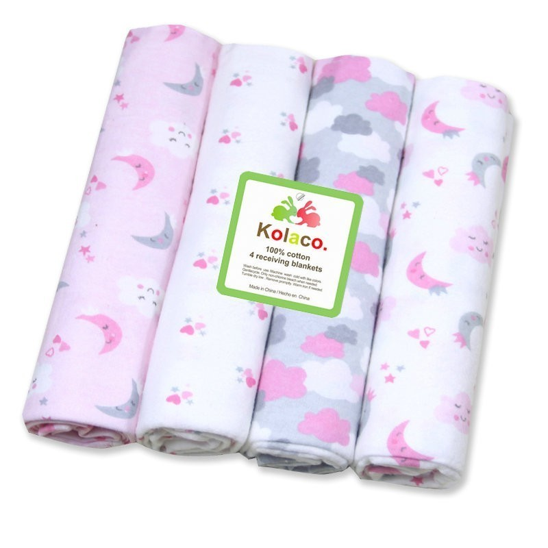 4Pcs/Lot Baby Blankets Newborn Baby Muslin Swaddle Baby Girl Wrap Diapers For Toddler Kids Muselina Bebe Algodon Cotton Blanket