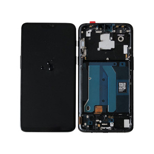 "Image 2 - 6.28""Original Super Amoled M&Sen For OnePlus 6 Oneplus 6 One Plus 6 LCD Display Screen+Touch Panel Digitizer Frame Replacement"