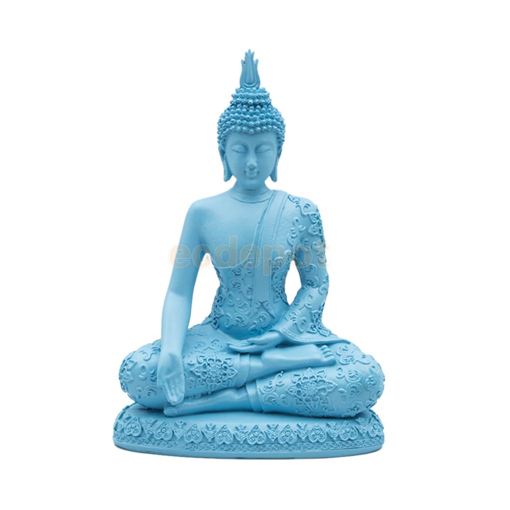 20cm Resin Buddha Stone Effect Garden Outdoor Indoor Statue Ornament Thai