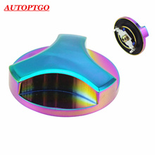 Car Styling Engine Lock Style Valve Cover Tank Fuel Oil Filler Cap Covers For Mitsubishi Lancer ASX Eclipse Pajero EVO L300 L200