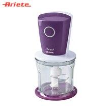 Измельчитель Ariete 1835/01 цвет фиолетовый, простой и удобный, острое лезвие из прочной нержавеющей стали, вместительная чаша 0,5 литра