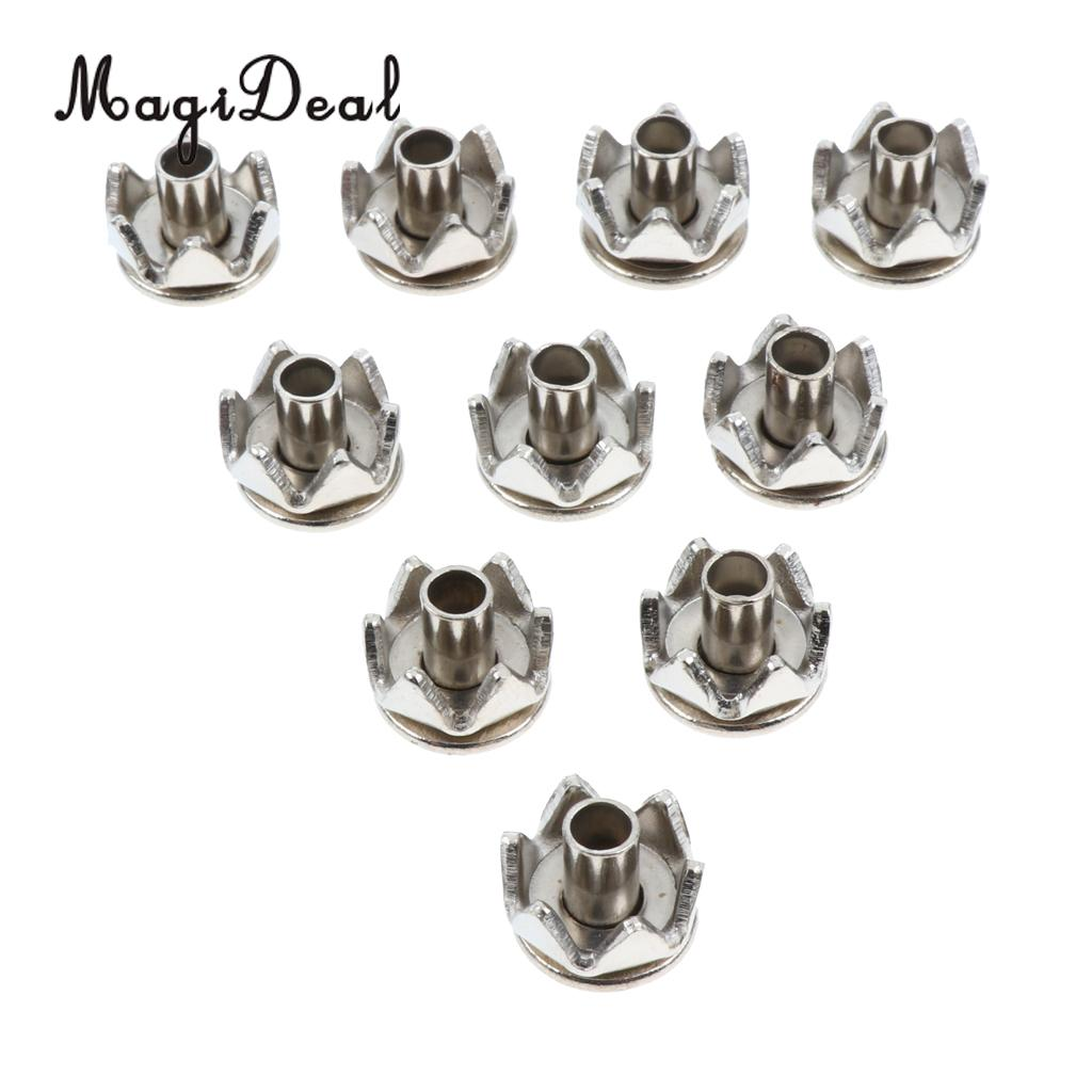 MagiDeal 10pcs Stainless Steel Replacement Spikes Studs For Ice Snow Walking Shoes Cleats Crampon Friction Traction