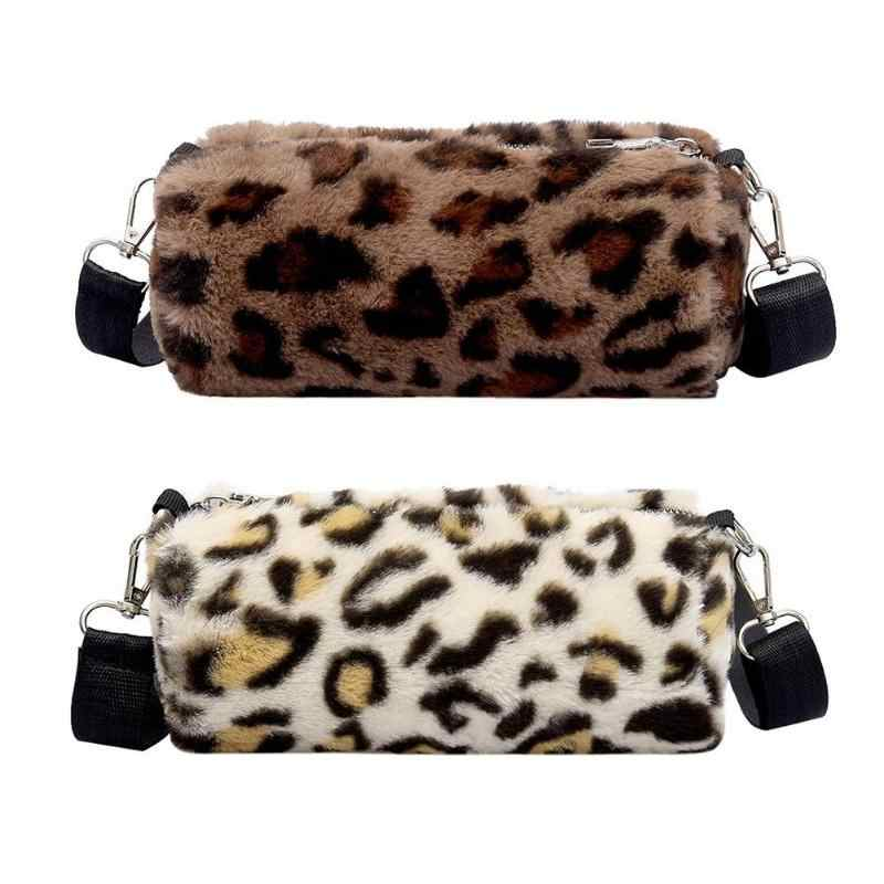 Fashion Women Cylinder Sling Bag Girls Leopard Print Shoulder Satchel Bags  Chest Bag Coin Purse Female fc5ede11fc87e