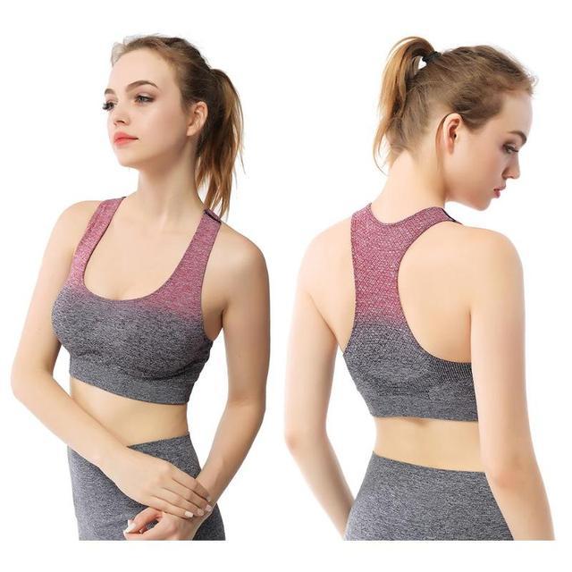 2019 Sports Bra Fitness Sexy Women Gradient Sportswear Sports Bra Gym Yoga Tank Tops Athletic Vest sports wear for women gym yog