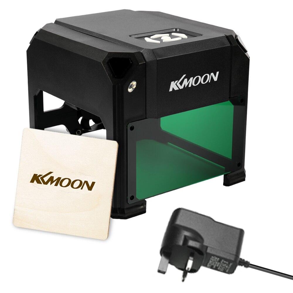 KKmoon 3000mW DIY Compact Desktop Laser Engraving Machine Logo Mark Printer Carving Machines with USB Cable