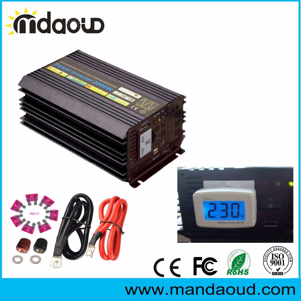 2000W DC TO AC Car Power Inverter Off Grid Solar For Home Electrical Appliances