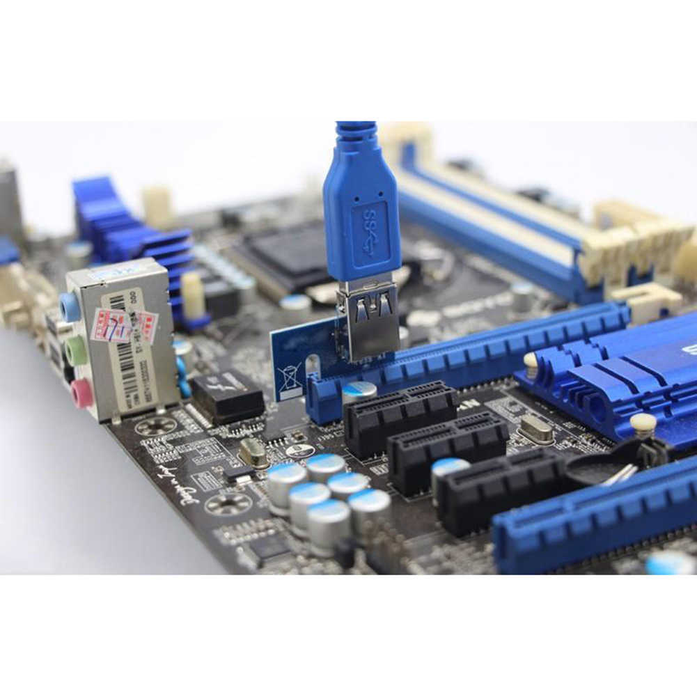 New Arrival USB 3.0 PCI Express PCI-E 1x Extender Riser Card Board Adapter for Mining