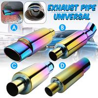 Car Exhaust Muffler Pipe 55mm Inlet Exhaust Tip Universal Rear Pipe Tube Stainless Steel