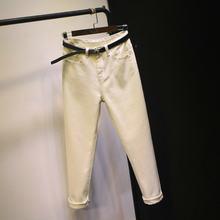 Осень 2019 летние джинсовые брюки джинсы в винтажном стиле с