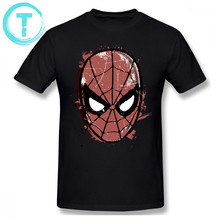 Spiderman T Shirt The Amazing Spider-Man Retro Comic Halftone Head T-Shirt Male Short Sleeves Tee Shirt Plus size Tshirt(China)