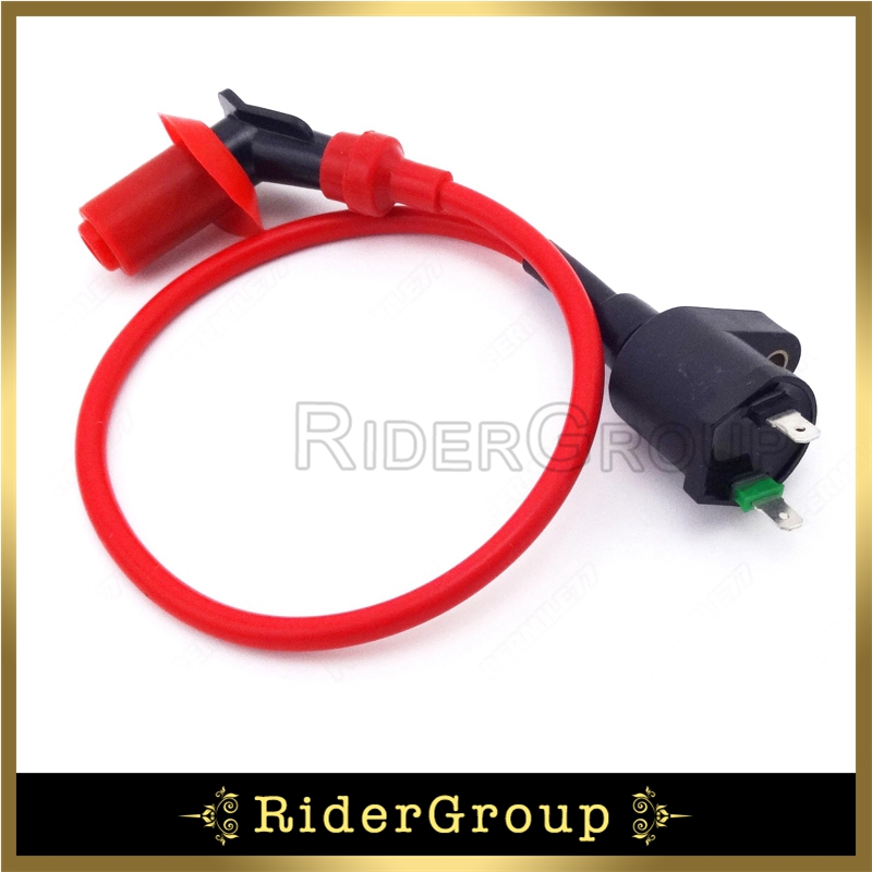 US $6.99 10% OFF|Red High Performance Ignition Coil For 50cc 150cc on