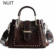 Large Capacity Rivet Tote Bucket Bag Women Soft PU Leather Ladies Handbag Crossbody Messenger Bags Female Purse Shoulder Bag 3 sets handbag women composite bag female large capacity tote messenger bag fashion shoulder crossbody bag small purse card bags
